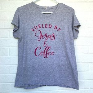 Jesus and Coffee Graphic t-shirt